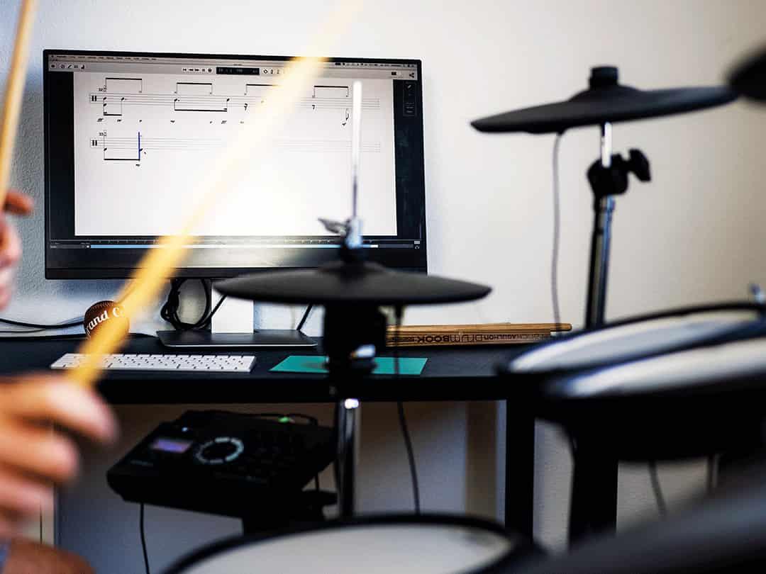 L'application Drumstik sur Macbook